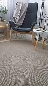 Úžitkový textil - Veľký okrúhly koberec - priemer 200 centimetrov - 8906734_