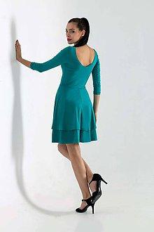 Šaty - Šaty Dance tyrkysové - 8910699_