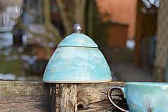 Nádoby - Dóza tyrkysová modrá z ľadového kráľovstva .... . - 8912075_