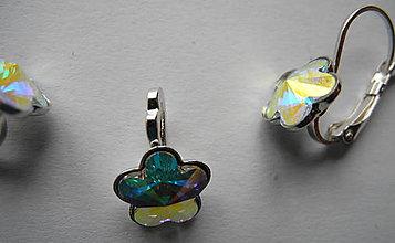 Sady šperkov - Šperky SWAROVSKI set kvietky dúhové - 8913080_