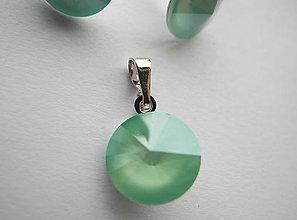 Sady šperkov - Šperky SWAROVSKI set okrúhly mentolový - 8913255_