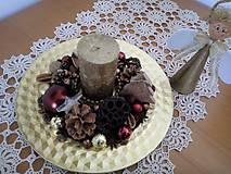 Svietidlá a sviečky - svietnik zlatý - 8911239_