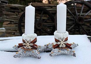 Dekorácie - sviečky so šálikom - 8914321_
