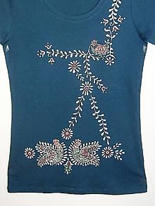Tričká - Dámske tričko Vtáčiky, veľkosť L - 8912384_