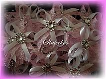 Pierka - Svadobné pierka ružové s kamienkom - 8912544_