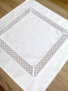 Úžitkový textil - Obrus s krajkou - 8911359_
