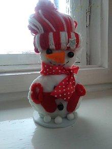 Dekorácie - Snehuliačik na ľadovej kryhe (Pestrofarebná) - 8911227_