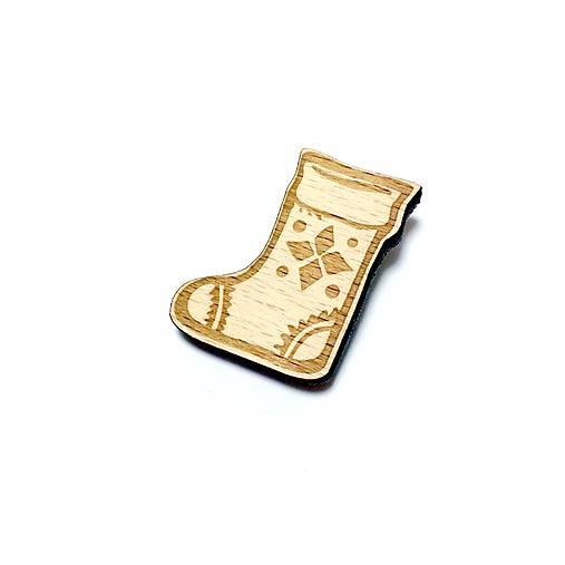 Ponožka vianočná brošňa