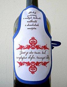 Iné doplnky - Zásterka na fľašu. - 8912766_