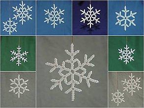 Dekorácie - Snehové vločky - sada 3 ks - 8910775_