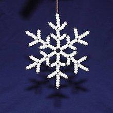 Dekorácie - Snehové vločky - sada 10 ks - 8910862_