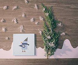Papiernictvo - Leporelo 13x13 ,,Zima v lese č.4 (Vtáčik),, - 8910533_