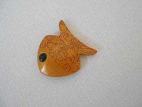 Magnetky - zlatá rybka magnetka - 8912065_