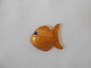 Magnetky - zlatá rybka magnetka - 8912156_