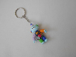 Kľúčenky - kľúčenka robot farebný - 8912376_