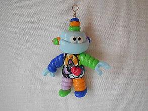 Kľúčenky - kľúčenka robot farebný - 8912404_