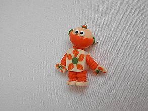 Kľúčenky - kľúčenka robot oranžový - 8912528_