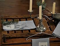 Úžitkový textil - ľanový obrúsok s vreckom na príbor - 8912338_