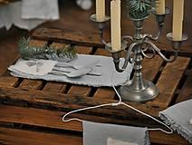 Úžitkový textil - ľanový obrúsok s vreckom na príbor - 8912339_
