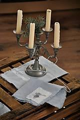 Úžitkový textil - ľanový obrúsok s vreckom na príbor - 8912352_