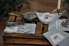Úžitkový textil - ľanový obrúsok s vreckom na príbor - 8912354_