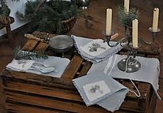 Úžitkový textil - ľanový obrúsok s vreckom na príbor - 8912356_