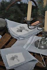 Úžitkový textil - ľanový obrúsok s vreckom na príbor - 8912357_