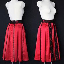 8135611ee580 Sukne - Skladaná sukňa v ľudovom štýle rôzne farby - 8912035