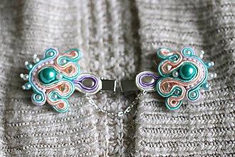 Iné šperky - dragún - pastelový šujtášový šperk