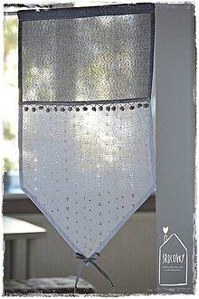Úžitkový textil - Krátka záclonka/vitrážka - 8911878_