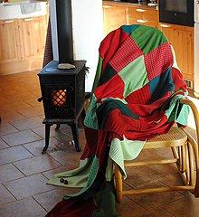 Úžitkový textil - Vianočná prikrývka II. - 8911730_