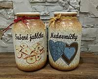 Nádoby - Sušené jablká,Medovníčky - 8914113_