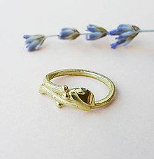 Prstene - Mistletoe (imelo) gold rig - 8916342_