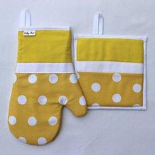 Úžitkový textil - set rukavica+chňapka Loli žltá - 8914726_