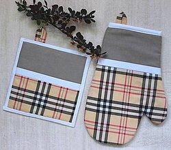 Úžitkový textil - set rukavica+chňapka Mrs. B - 8914740_