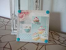 Obrázky - Decoupage obrázok Sweet Cupcakes - 8916450_
