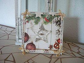 Obrázky - Decoupage obrázok Vianočná hviezda - 8916407_