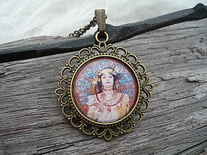 Náhrdelníky - !VÝPREDAJ! Filigránový náhrdelník Alphons Mucha Dáma - 8916962_