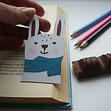 Zimný zajko do knižky...