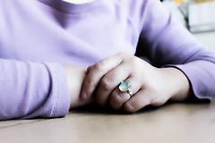 Prstene - Strieborný minimalistický prsteň s akvamarínom - Aqua - 8914815_