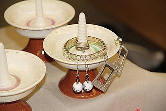 Krabičky - Držiak na šperky - fontánka (ružová) - 8915795_
