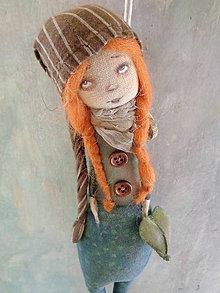 Bábiky - Panenka s dlouhou čapkou - 8914628_