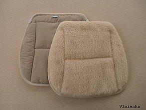 Úžitkový textil - RUNO SHOP Hrejivý sedák do auta Ovčie runo Baranček proti prechladnutiu a prehriatiu béžová 100% bavlna - 8917729_