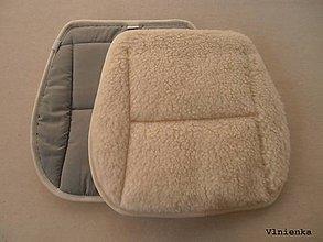 Úžitkový textil - RUNO SHOP Hrejivý sedák do auta Ovčie runo Baranček proti prechladnutiu a prehriatiu 100% bavlna sivá - 8917791_