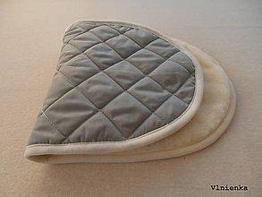 Textil - Podložka do vaničky kočíka STOKKE Scoot 100% ovčie rúno MERINO ELEGANT sivý - 8917992_