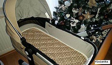 Textil - Podložka do vaničky Joolz DAY 2 100% merino Hviezdička krémová béžová - 8918061_