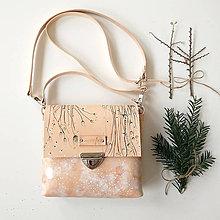 Kabelky - Eva Snow (kožená kabelka - ručne maľovaná) - 8914974_