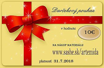 Darčekové poukážky - darčeková poukážka - 8918133_