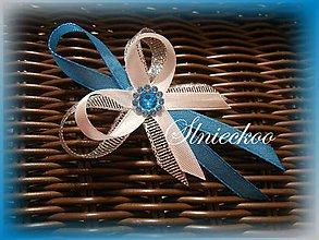 Pierka - Svadobné pierka tyrkysové s kamienkom - 8916720_