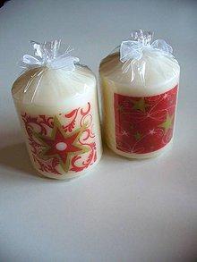 Svietidlá a sviečky - sada 2 vianočných sviečok - 8915173_